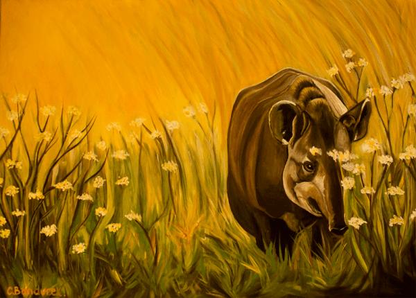Tapir. Oil painting. Cynthia Bandurek