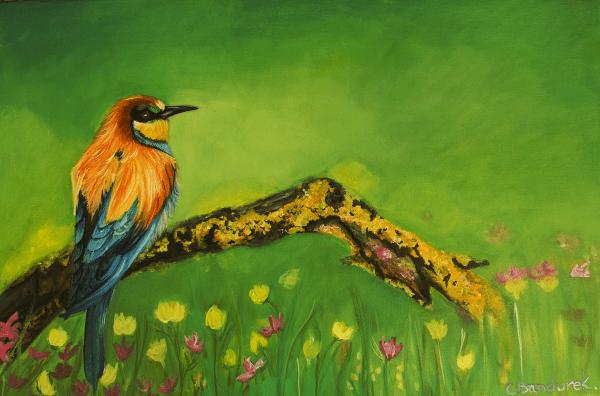 Bird. Oil painting. Cynthia Bandurek