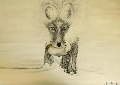 Fox. Oil painting. Cynthia Bandurek
