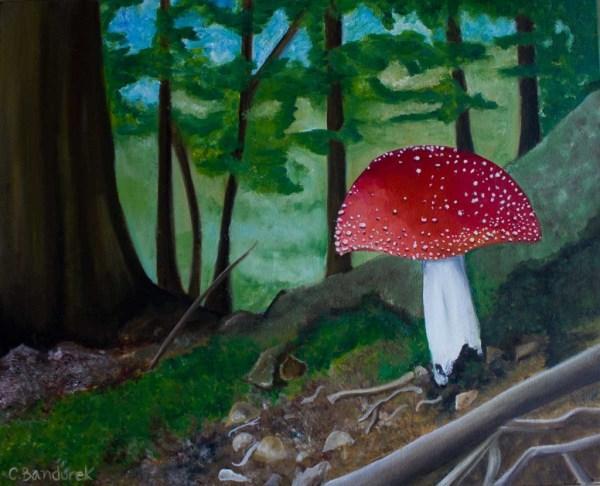 Oil painting. Fungus. Belgium. Cynthia Bandurek