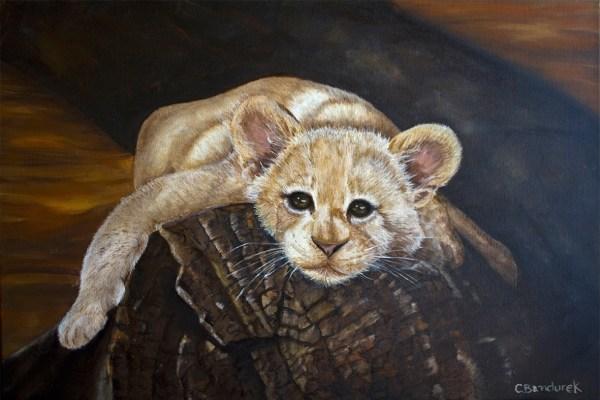 Lion - Oil painting - Cynthia Bandurek