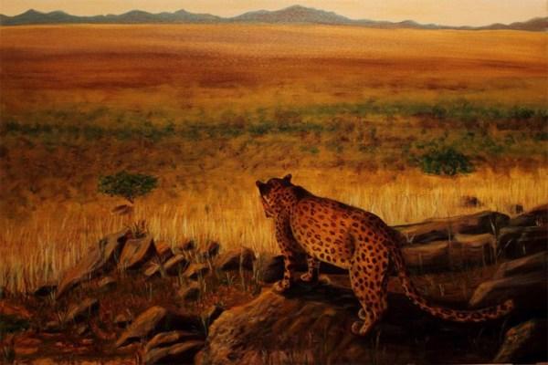 Leopard - Oil . Cynthia Bandurek