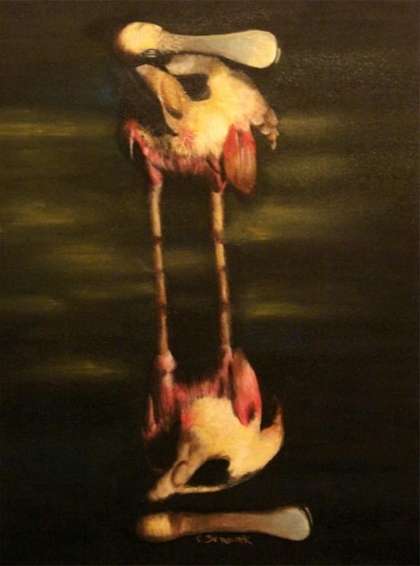 Oil painting. Pink Spatula - Cynthia Bandurek