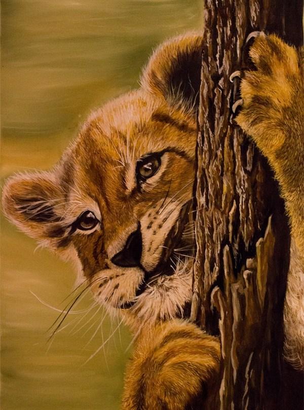 Oil painting - Cynthia Bandurek - Lion