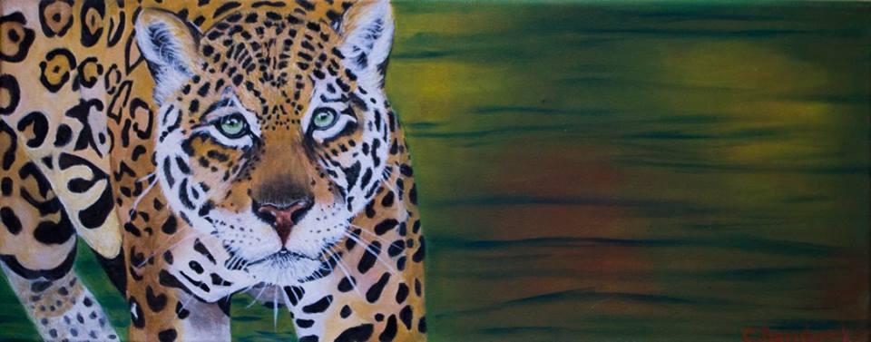 jaguar- Oil painting . Cynthia Bandurek