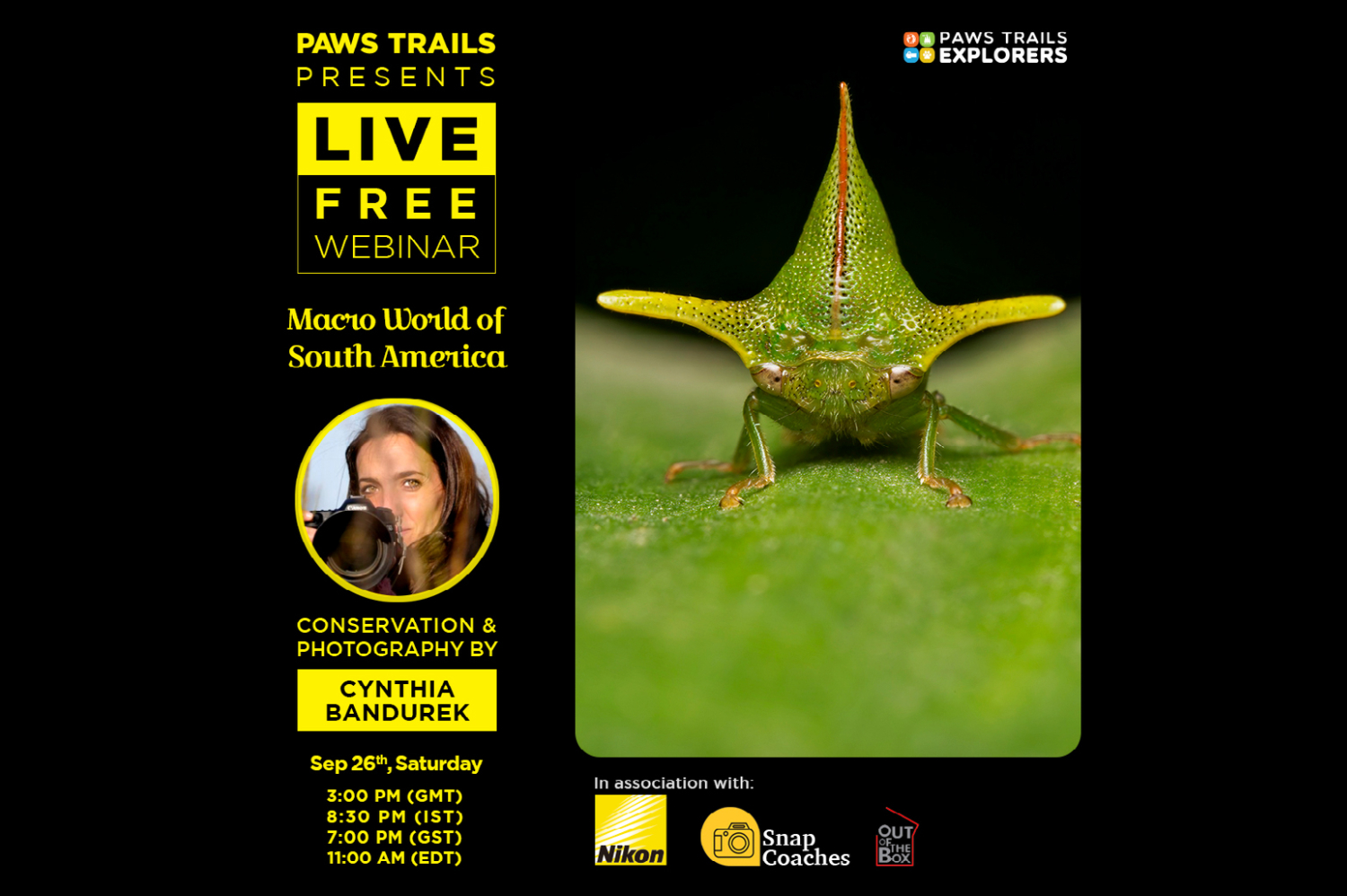 Macroworld – Free Webinar – Paws Trails Explorers